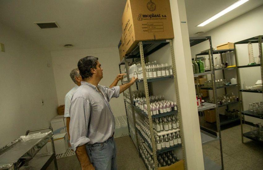 CAPITANICH SUPERVISÓ LAS OBRAS DESTINADAS A LA ASISTENCIA DE PACIENTES CON CORONAVIRUS