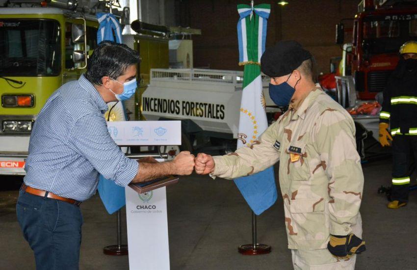 Con millonaria inversión en equipamiento el Gobierno  de Chaco celebró el 82º aniversario de la división de bomberos de la policía