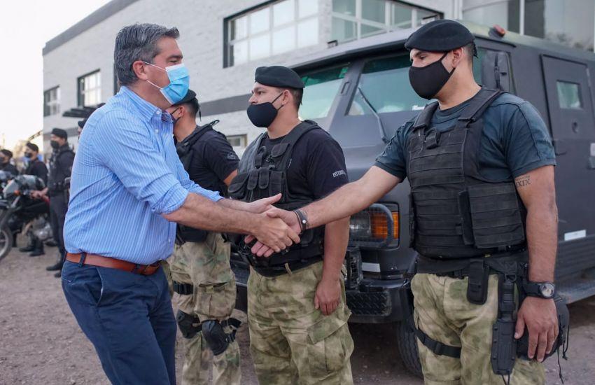 Capitanich lanzó un megaoperativo de seguridad en Sáenz Peña junto a Fuerzas Federales
